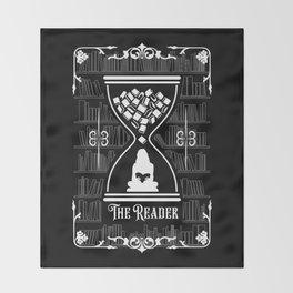 The Reader Tarot Card Throw Blanket