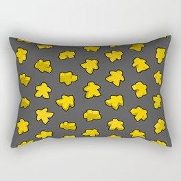 Yellow Game Meeples Rectangular Pillow