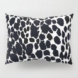 Animal Print Cheetah Black and White Pattern #4 Pillow Sham