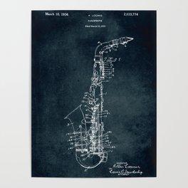1936 - Saxophone Poster