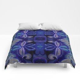 Double Blue Lotus Comforters
