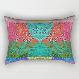 Abstract Modern Psychedelic Gentle Lines Rectangular Pillow