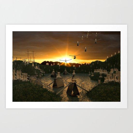 Pushpin Invasion Art Print