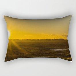 Setting sun Rectangular Pillow
