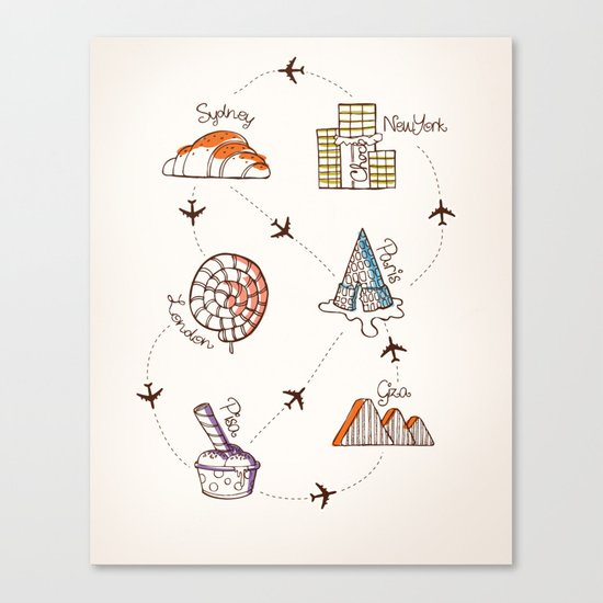 Sweet Travel Canvas Print