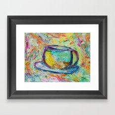Coffee is my middle name! Framed Art Print