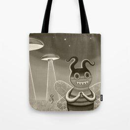 bee movie noir Tote Bag