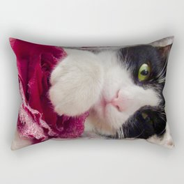 Orazio very sweet cat Rectangular Pillow