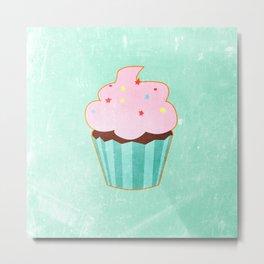 Cupcake tasty, sweet illustration Metal Print