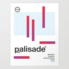 palisade single hop Art Print