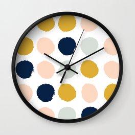 Dot minimal trendy color palette gold silver metallic minimal home decor Wall Clock