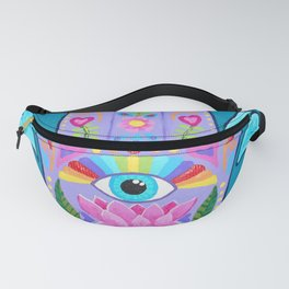 """Stunning """"Hand of Fatima"""" artwork by Soozie Wray Fanny Pack"""