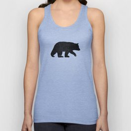 Black Bear Silhouette Unisex Tank Top