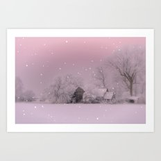 Cold Winter morning in Germany Art Print