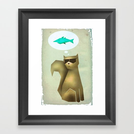 Fish and Chips Framed Art Print