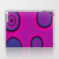 pink and purple circles abstract Laptop & iPad Skin