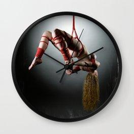 Shibari red Wall Clock