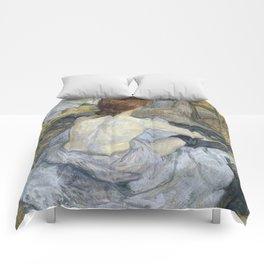 """Henri de Toulouse-Lautrec """"Rousse (La Toilette)"""" Comforters"""