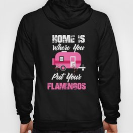 Home Is Where You Put Your Flamingos, Flamingo Party Gift Hoody