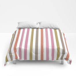 Pink Roses in Anzures 2 Stripes 1V Comforters