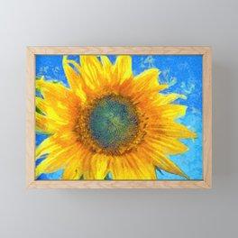 Happy Sunflower Framed Mini Art Print