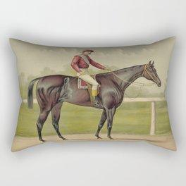 Grand Racer Kingston - Vintage Horse Racing Rectangular Pillow