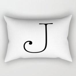 Letter J Typewriting Rectangular Pillow