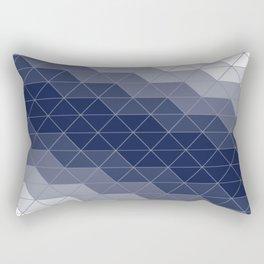 Navy Blue Triangles Rectangular Pillow