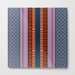 Ethnic Andean Peruvian Textile Pattern Metal Print