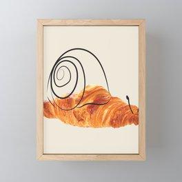 croissant snail Framed Mini Art Print