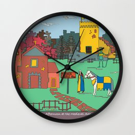Afternoon at the Medieval Age Wall Clock