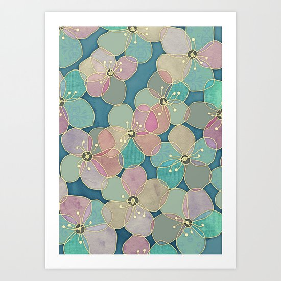 It's Always Summer Somewhere 2 - translucent poppy doodle Art Print