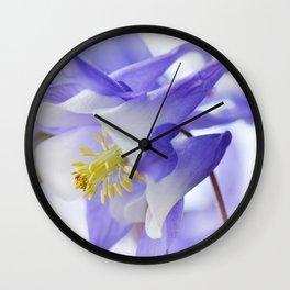 Columbine flower macro 285 Wall Clock