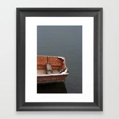 Red Dingy Framed Art Print