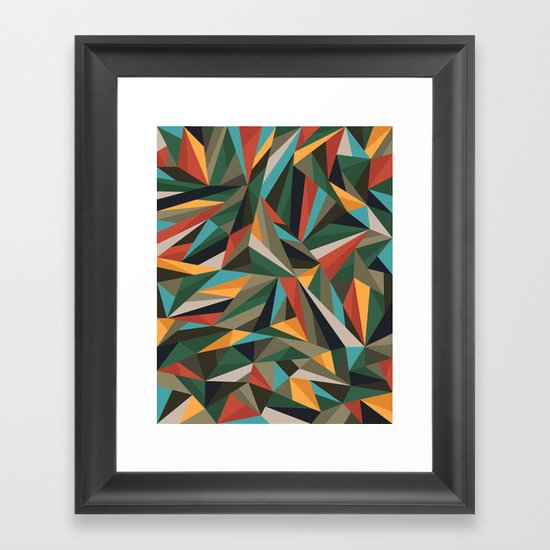 Sliced Fragments II Framed Art Print