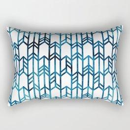 Indigo Arrows Rectangular Pillow