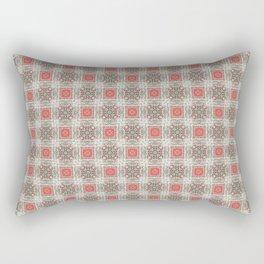 Coral Geometric Pattern # 5 Rectangular Pillow