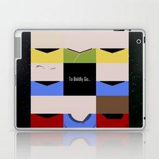 To Boldy Go - square - Star Trek The Original Series TOS - startrek Trektangle Kirk Spock Bones  Laptop & iPad Skin