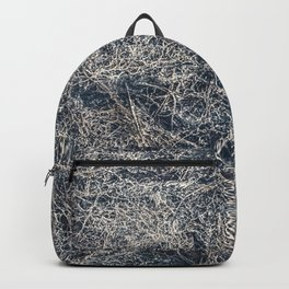 Dark Texture Abstract Print Backpack