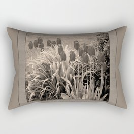old timey tulips (square) Rectangular Pillow