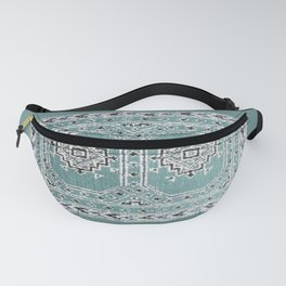 Traditional rug in denim blue Fanny Pack