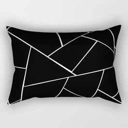 Black White Geometric Glam #2 #geo #decor #art #society6 Rectangular Pillow
