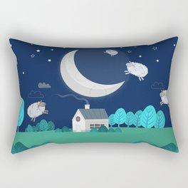 What The Sheep Do While You Sleep Rectangular Pillow