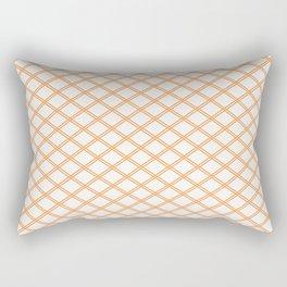 Orange Diamonds Rectangular Pillow