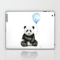 Panda Baby Animal with Blue Balloon Laptop & iPad Skin