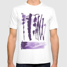 Decorative strokes Mens Fitted Tee White MEDIUM