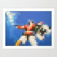 8-Bitron Art Print