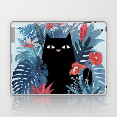 Popoki in Blue Laptop & iPad Skin