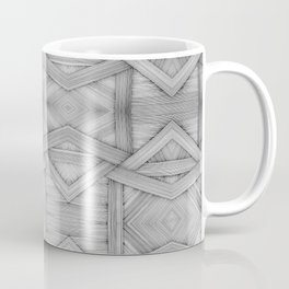 Mind Bending Geometric Black and White Line Pattern Coffee Mug
