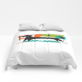 Mister Peepers Retro Mid Century Modern Design Comforters